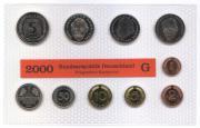 DM Kursmünzensatz von 2000 Münzstätte