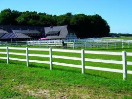Zubehör Reit-/Pferdesport - Einzäunung in weiß Kunststoff für