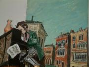 Ensemble Venedig Häuserflucht mit Kanälen