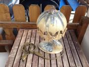 extravagante Tischlampe, Keramik,