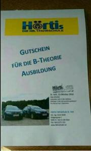 Fahrschule - Gutschein