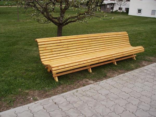 Gartenbank Hausbank ca 250cm lang! in Tyrlaching - Gartenmöbel ...