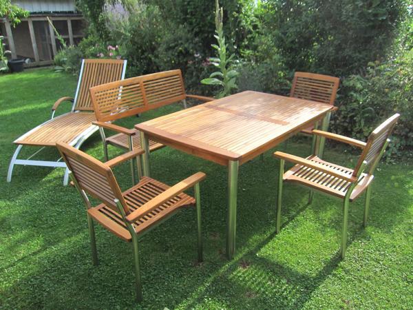Teak Holz Gartenmöbel Set ~ Gartenmöbel set teak in kusterdingen kaufen und verkaufen über