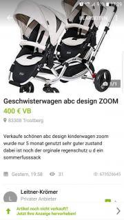 Geschwisterwagen abc design