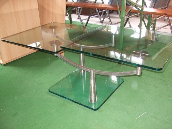 glastisch rollen gebraucht kaufen nur 4 st bis 75. Black Bedroom Furniture Sets. Home Design Ideas
