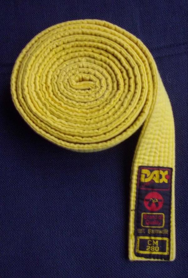 Gürtel GELB Judo 7 Kyu