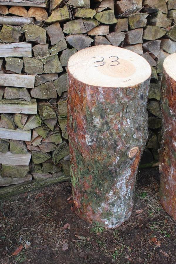 Hackklotz 33er aus Kiefer Brennholz