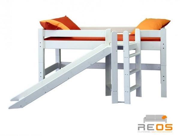 flexa halbhohes bett weis flexa basic hochbett spielbett halbhohes bett modern. Black Bedroom Furniture Sets. Home Design Ideas