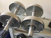 Hantelscheiben, Gewichte, Hantelstangen
