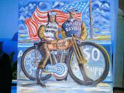 Harley-Davidson Motiv-Ölbild
