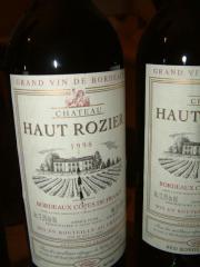 Haut Rozier Rotwein von 1998