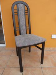Hochlehnerstuhl schwarz Holz