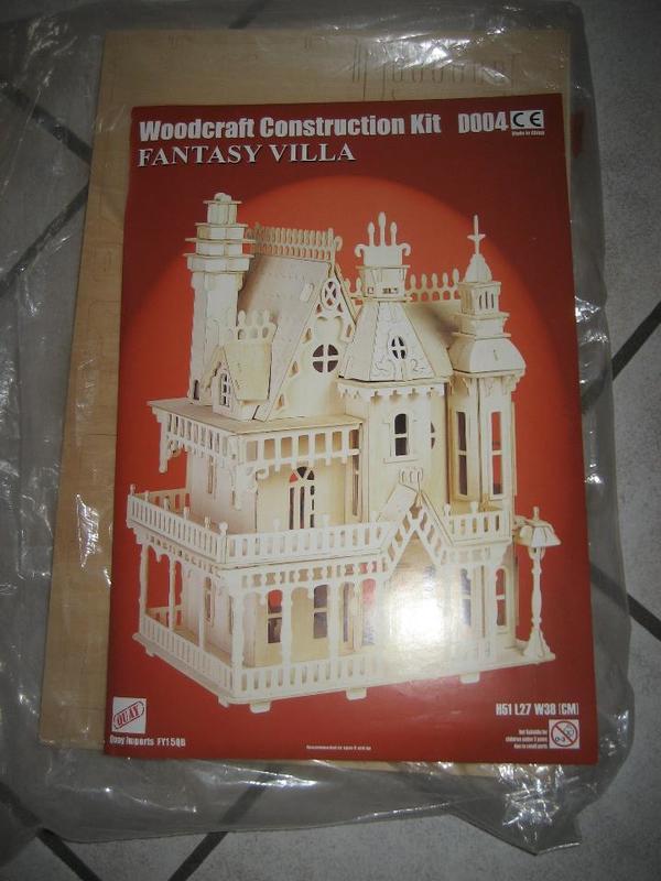 Holzpuzzle in 3D Fantasy Villa