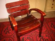 Holzstuhl mit Armlehne 2 Stück