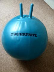Hüpfball von Wehrfritz mit Griffen