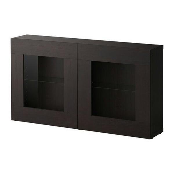 IKEA BESTA Regal, Hängevitrine, schwarzbraun, neuwertig in ...