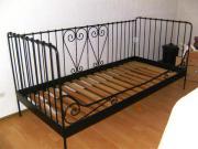 ikea metallbett schwarz 90 200. Black Bedroom Furniture Sets. Home Design Ideas