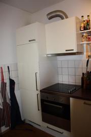 Küchenmöbel mit elektrogeräten  IKEA Küche weiß Elektrogeräte L-Form und gerade Zeile Nussbaum ...