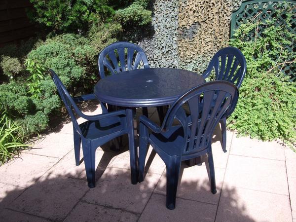 jardin 5tlg.gartensitzgruppe (kunststoff) farbe d``blau-4, Gartenmöbel