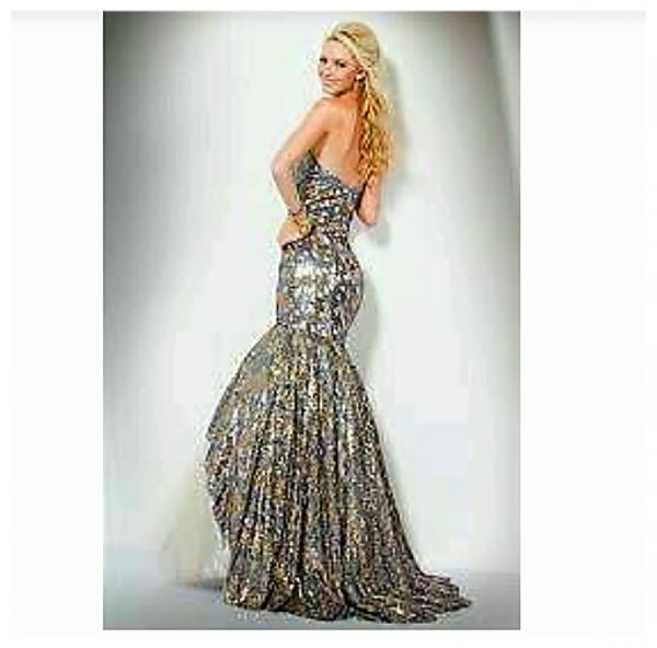 Jovani Abendkleid ,Ballkleid ,Verlobungskleid,Hochzeit,US12, mit ...