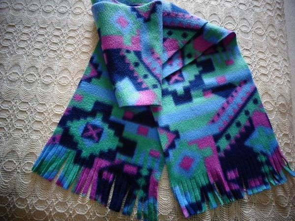 Kinderbekleidung Schal bunt Fleece