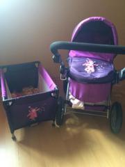 Kinderwagen + Reisebett für