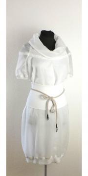 Kleid - Leinen - weiß -