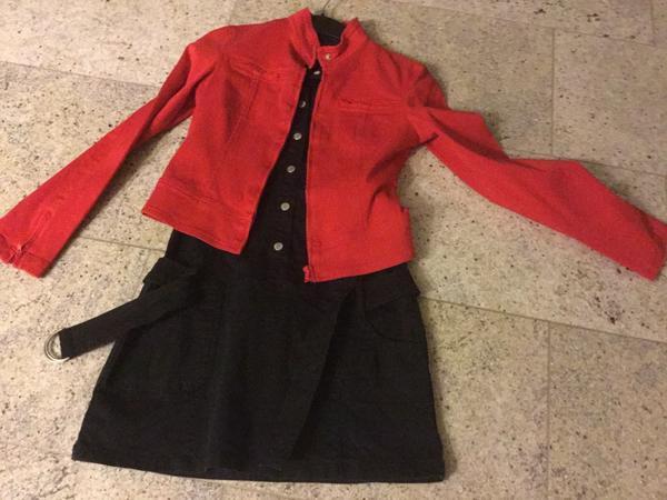 Kleid und rote » Damenbekleidung