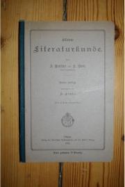 KLEINE LITERATURKUNDE von 1911