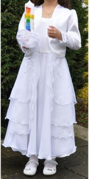 Kommunionskleid mit Jacke Farbe Weiß