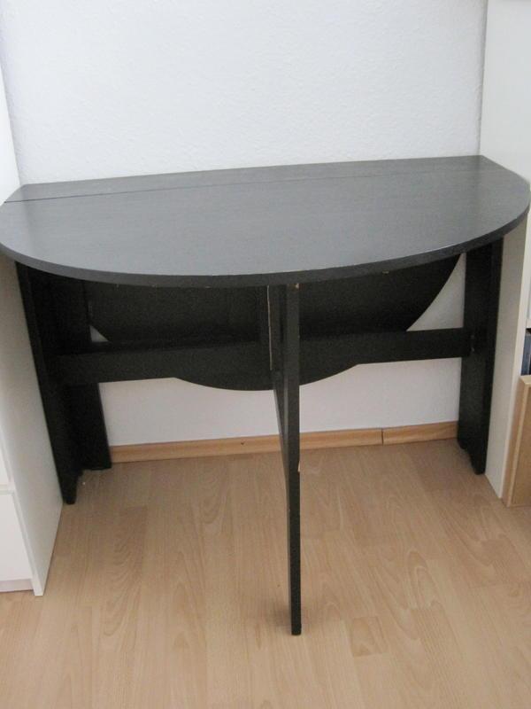 Küchentisch klappbar Ikea schwarz Furnier in München - Küchenmöbel, Schränke kaufen und ...