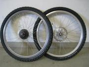 Laufradsatz Felgen 24 Zoll-mit Scheibensbremse