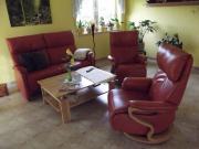 Leder-Couchgarnitur Himolla