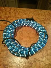 Lichterschlauch blau 6 m Länge