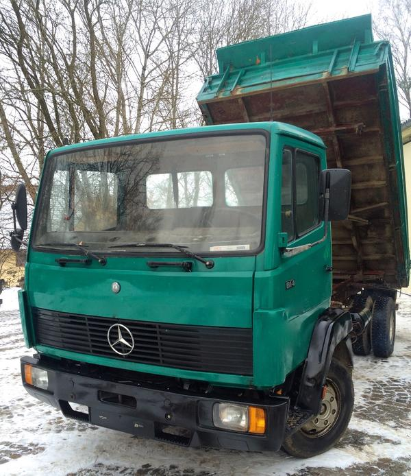 lkw mercedes kipper 814 in attenhofen lkw bis 7 5 t. Black Bedroom Furniture Sets. Home Design Ideas
