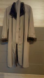 Mantel mit Webfell,