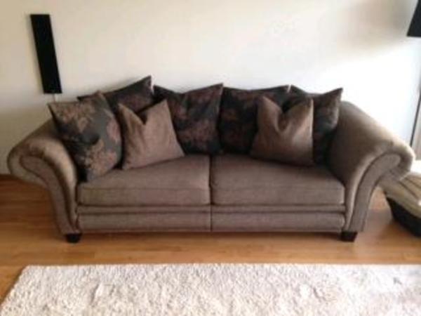 mega sofa gutmann factory stoff braun super gem tlich in m nchen polster sessel. Black Bedroom Furniture Sets. Home Design Ideas