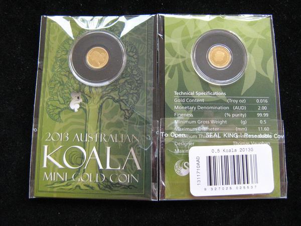 Mini Gold Coin 2 Dollars Australien Koala Baer 2013 0, 5 Gramm - Neu-ulm Pfuhl - Mini Gold Coin 2 Dollar Australien Koala Baer 2013Material Gold 999,9/1000Gewicht 0,5 GrammQualität PrägefrischDurchmesser 11,60 mmGekapselt im Original BlisterVersand ab 3,60 als Einschreiben - Neu-ulm Pfuhl