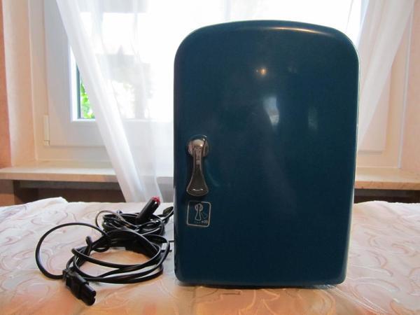 mini k hlschrank 4 liter ac dc cooler warmer blau f r. Black Bedroom Furniture Sets. Home Design Ideas