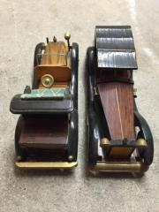 Modellautos Holz Oldtimer 2 Stück