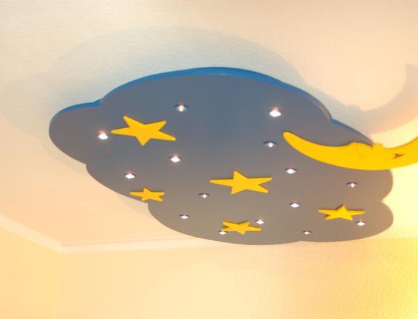 Mondlampe deckenlampe kinderzimmer sternenlampe kinderlampe in
