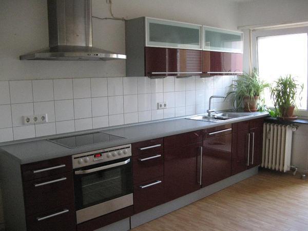 Nolte-Küche inkl. Elektrogeräten in Bordeaux-Rot, guter Zustand in ... | {Küchenzeile mit elektrogeräten 52}