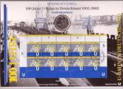 Numisblatt 100 Jahre U-Bahn