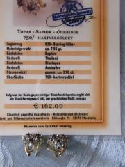 Ohrringe Topas-Saphir