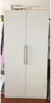 Ikea kleiderschrank weiß hochglanz  PAX Kleiderschrank hochglanz weiß in München - IKEA-Möbel kaufen ...