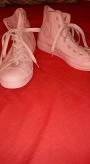 Pinke Leder Convers