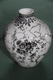 Porzellanvase Villeroy Boch Alt-Mettlacher Kupferstiche