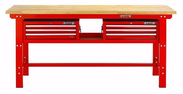 profi werkbank werktisch arbeitstisch 200 cm 2 x werkzeugkiste in gro enkneten werkzeuge. Black Bedroom Furniture Sets. Home Design Ideas