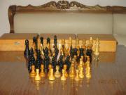 Schachhholzfiguren alt, für