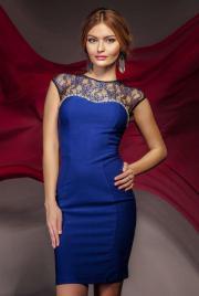 Schönen blauen Kleid